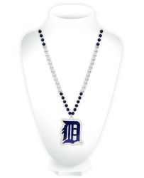 Detroit Tigers Beads with Medallion Mardi Gras Style