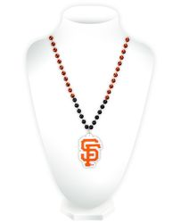 San Francisco Giants Beads with Medallion Mardi Gras Style Special Order