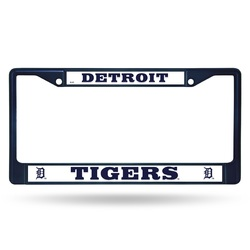 Detroit Tigers License Plate Frame Metal Navy