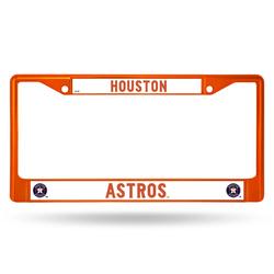Houston Astros License Plate Frame Metal Orange