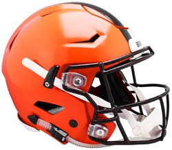 Category: Dropship Licensed Novelties, SKU #9585530997, Title: Cleveland Browns Helmet Riddell Authentic Full Size SpeedFlex Style