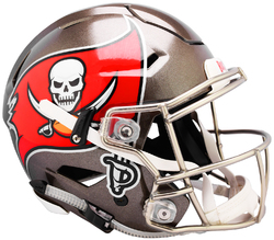 Category: Dropship Licensed Novelties, SKU #9585530998, Title: Tampa Bay Buccaneers Helmet Riddell Authentic Full Size SpeedFlex Style Special Order