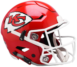 Category: Dropship Licensed Novelties, SKU #9585531001, Title: Kansas City Chiefs Helmet Riddell Authentic Full Size SpeedFlex Style