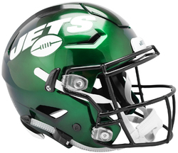 Category: Dropship Licensed Novelties, SKU #9585531009, Title: New York Jets Helmet Riddell Authentic Full Size SpeedFlex Style Special Order