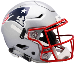 Category: Dropship Licensed Novelties, SKU #9585531013, Title: New England Patriots Helmet Riddell Authentic Full Size SpeedFlex Style