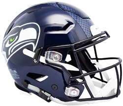 Category: Dropship Licensed Novelties, SKU #9585531019, Title: Seattle Seahawks Helmet Riddell Authentic Full Size SpeedFlex Style