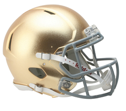 Category: Dropship Licensed Novelties, SKU #9585532890, Title: Notre Dame Fighting Irish Helmet - Riddell Authentic Full Size - Speed Style - 2016 HydroFx Special Order