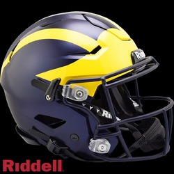 Category: Dropship Licensed Novelties, SKU #9585532948, Title: Michigan Wolverines Helmet Riddell Authentic Full Size SpeedFlex Style - Special Order