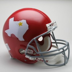 Category: Dropship Sports Fan Gifts, SKU #9585598607, Title: Dallas Texans Helmet Riddell Authentic Full Size VSR4 Style 1960-1962 Throwback