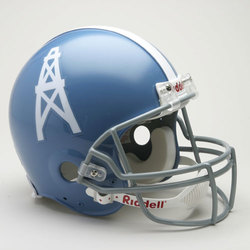 Category: Dropship Sports Fan Gifts, SKU #9585598609, Title: Houston Oilers Helmet Riddell Authentic Full Size VSR4 Style 1960-1962 Throwback Special Order