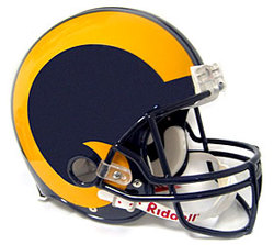 Category: Dropship Sports Fan Gifts, SKU #9585599820, Title: St. Louis Rams 1981-99 Throwback Pro Line Helmet Special Order
