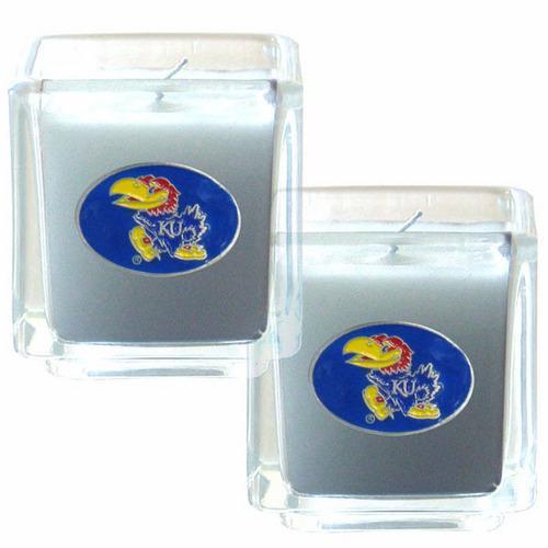 Kansas Jayhawks 2pk Candle