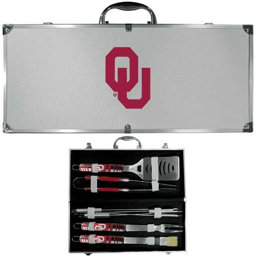 Oklahoma Sooners 8 pc Tailgater BBQ Set