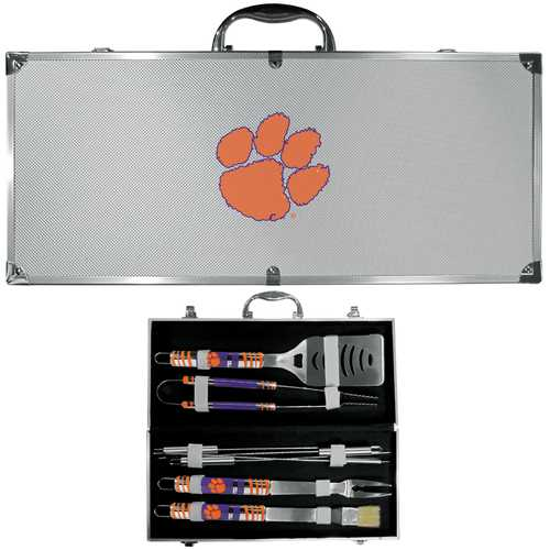 Clemson Tigers 8 pc Tailgater BBQ Set