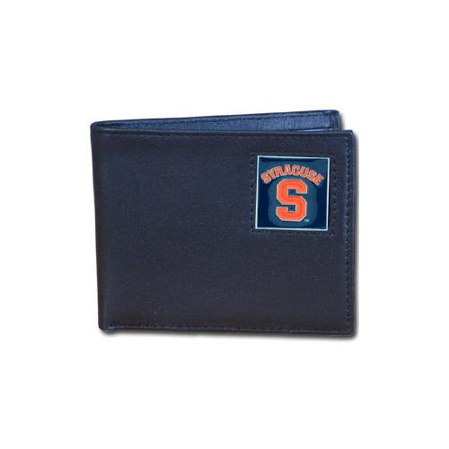 Syracuse Orange Leather Bi-fold Wallet Packaged in Gift Box