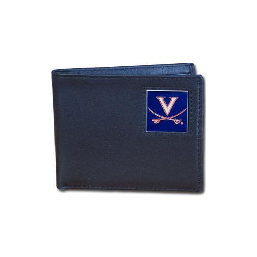 Virginia Cavaliers Leather Bi-fold Wallet Packaged in Gift Box