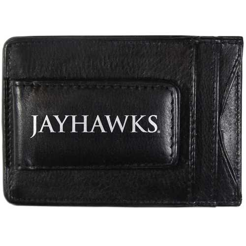 Kansas Jayhawks Logo Leather Cash and Cardholder