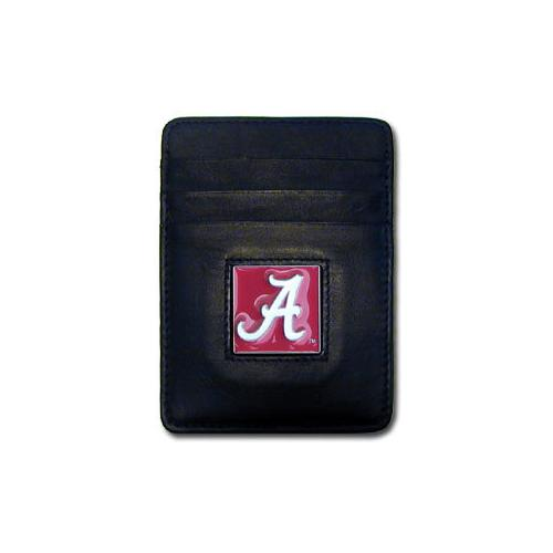 Alabama Crimson Tide Leather Money Clip/Cardholder Packaged in Gift Box