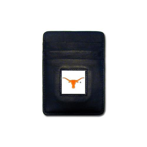 Texas Longhorns Leather Money Clip/Cardholder Packaged in Gift Box