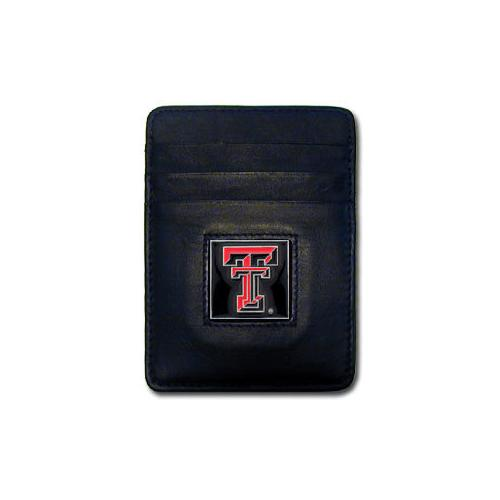 Texas Tech Raiders Leather Money Clip/Cardholder Packaged in Gift Box