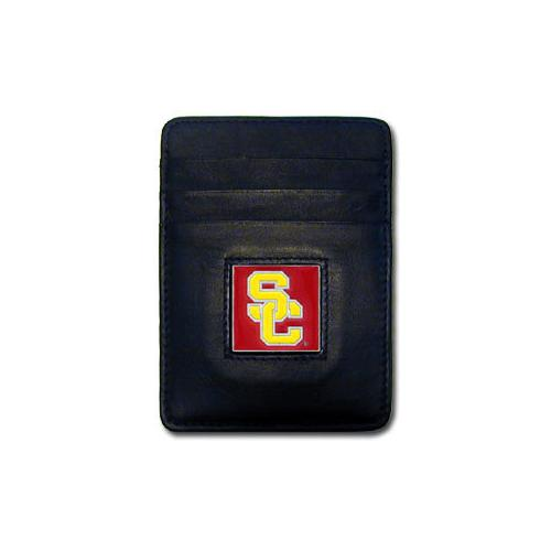 USC Trojans Leather Money Clip/Cardholder Packaged in Gift Box