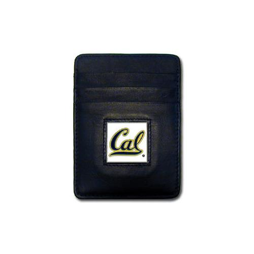 Cal Berkeley Bears Leather Money Clip/Cardholder Packaged in Gift Box