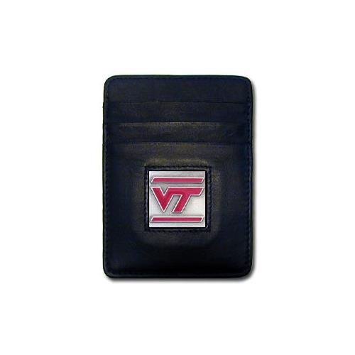 Virginia Tech Hokies Leather Money Clip/Cardholder Packaged in Gift Box