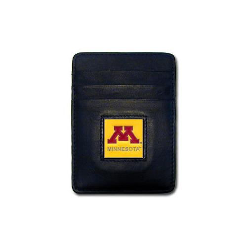 Minnesota Golden Gophers Leather Money Clip/Cardholder Packaged in Gift Box