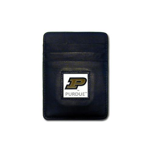 Purdue Boilermakers Leather Money Clip/Cardholder Packaged in Gift Box