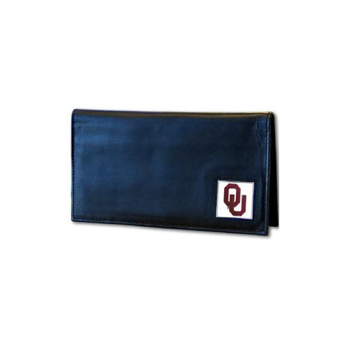 Oklahoma Sooners Deluxe Leather Checkbook Cover