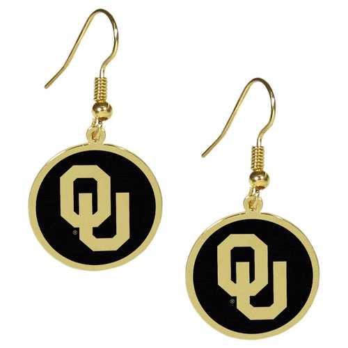 Oklahoma Sooners Gold Tone Earrings