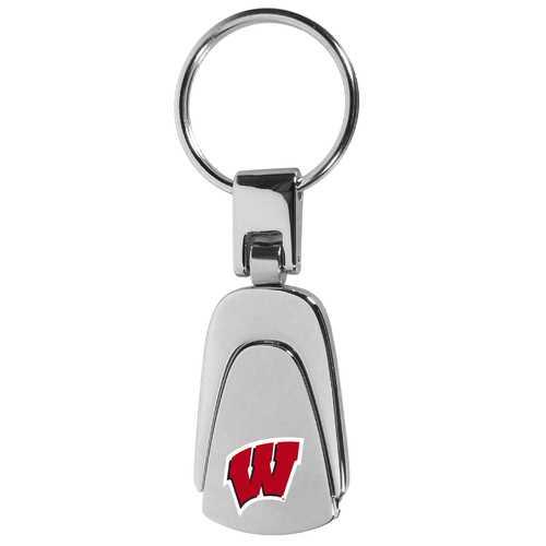 Wisconsin Badgers Steel Teardop Key Chain