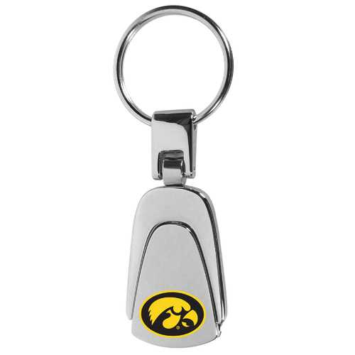 Iowa Hawkeyes Steel Teardop Key Chain