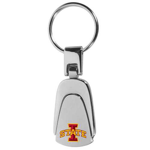 Iowa St. Cyclones Steel Teardop Key Chain
