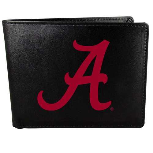 Alabama Crimson Tide Leather Bi-fold Wallet, Large Logo