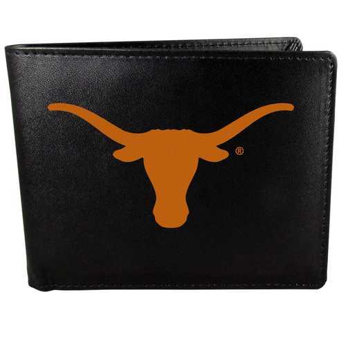 Texas Longhorns Leather Bi-fold Wallet, Large Logo
