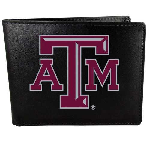 Texas A & M Aggies Leather Bi-fold Wallet, Large Logo