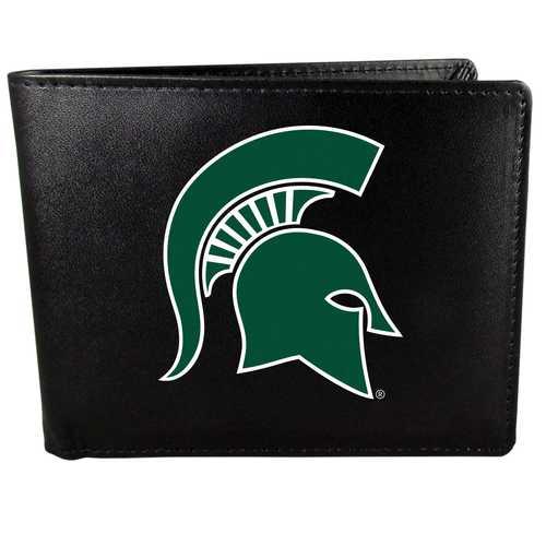 Michigan St. Spartans Leather Bi-fold Wallet, Large Logo