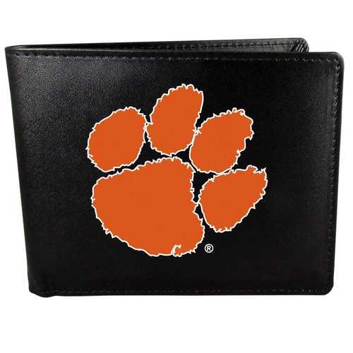 Clemson Tigers Leather Bi-fold Wallet, Large Logo