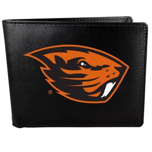 Oregon St. Beavers Leather Bi-fold Wallet, Large Logo