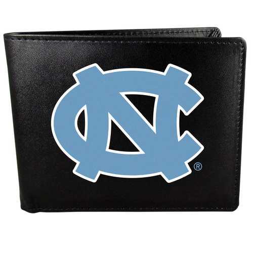N. Carolina Tar Heels Leather Bi-fold Wallet, Large Logo