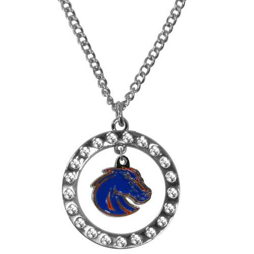 Boise St. Broncos Rhinestone Hoop Necklaces