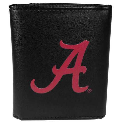 Alabama Crimson Tide Leather Tri-fold Wallet, Large Logo
