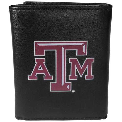 Texas A & M Aggies Leather Tri-fold Wallet, Large Logo