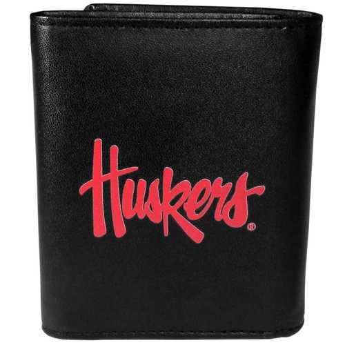 Nebraska Cornhuskers Leather Tri-fold Wallet, Large Logo