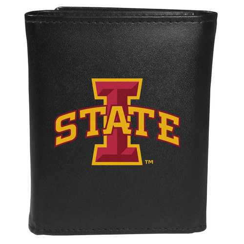 Iowa St. Cyclones Leather Tri-fold Wallet, Large Logo
