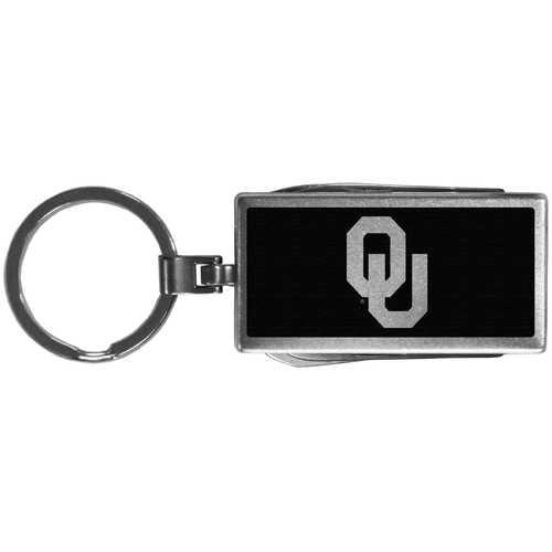 Oklahoma Sooners Multi-tool Key Chain, Black