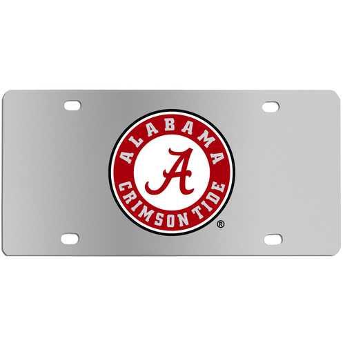 Alabama Crimson Tide Steel License Plate Wall Plaque