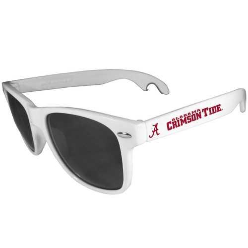 Alabama Crimson Tide Beachfarer Bottle Opener Sunglasses, White