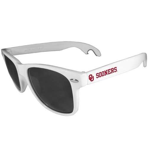 Oklahoma Sooners Beachfarer Bottle Opener Sunglasses, White